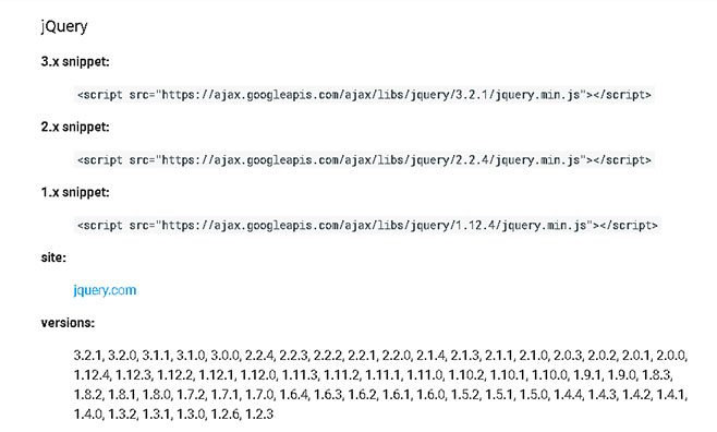 Google CDNからjQueryを読み込み